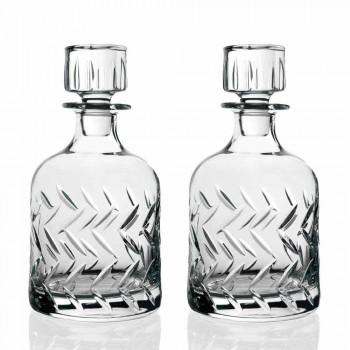 2 garrafas de whisky ecológicas com tampa decorativa vintage - arritmia