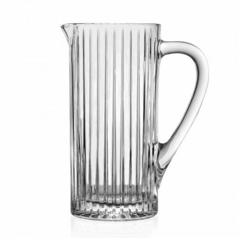 2 Jarras de Água e Bebidas em Eco Crystal Decorado com Design de Luxo - Senzatempo