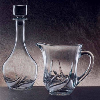 2 Jarras de Água em Cristal Ecológico com Decoração de Luxo Fabricado na Itália - Advento