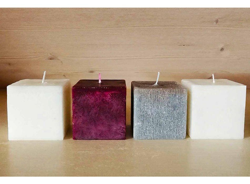 2 velas quadradas de diferentes tamanhos em cera fabricada na Itália - Adelle