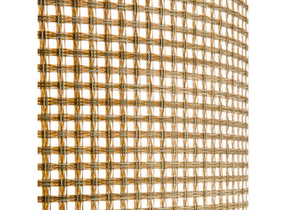 2 espreguiçadeiras empilháveis ao ar livre em metal e tecido made in Italy - Perlo