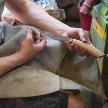 2 Facas de Bife com Cabo em Chifre de Boi ou Madeira Made in Italy - Marino