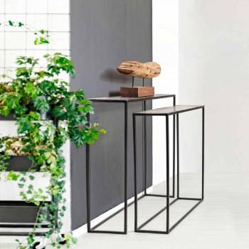 2 Consola em Aço Estilo Industrial Design Moderno Homemotion - Gergelim