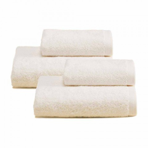 2 Pares de Toalhas de Banho Coloridas Serviço em Algodão Spguna - Vuitton