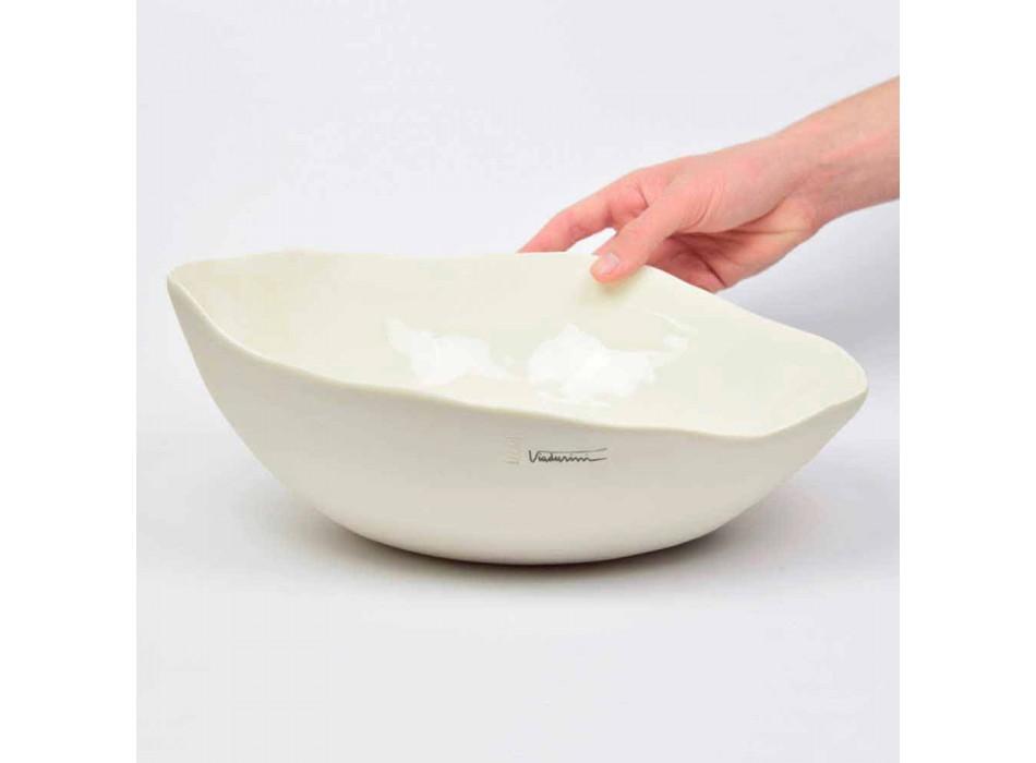 2 Saladeiras em Porcelana Branca Peças Únicas de Design Italiano - Arciconcreto
