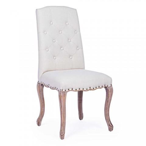 2 Cadeiras de Sala de Jantar com Assento Estofado e Estofado Homemotion - Mania