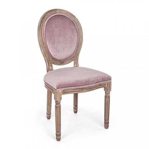 2 Cadeiras de Sala de Jantar Classic Design em Poliéster Homemotion - Dalida
