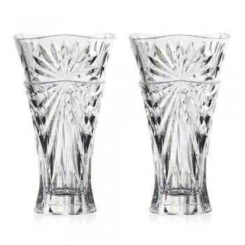 2 Vasos de Decoração de Mesa em Cristal Ecológico de Design Único - Daniele