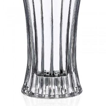 2 Vasos de Decoração Design em Transparente Eco Crystal Decorado de Luxo - Senzatempo