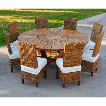 Mesa de jantar redonda de teca Mesa Real