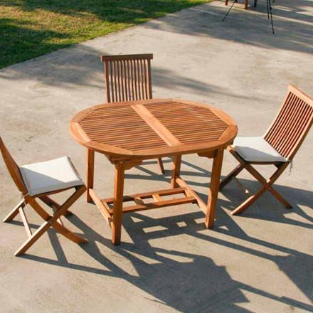 Mesa extensível externa feita de madeira de teca Lipari