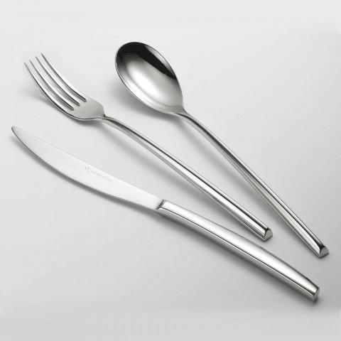 24 Talheres de aço polido Triangular Design Elegant Modern Design - Caplin