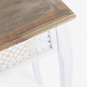 3 Console de design de estilo clássico em Fir Bamboo Bamboo e Mdf - Camalow