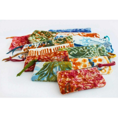 3 garras de algodão impressas à mão em peças únicas - Viadurini by Marchi
