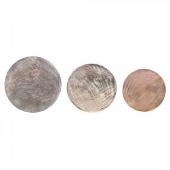 3 Mesinhas Redondas em Alumínio e Aço Homemotion - Sempronio