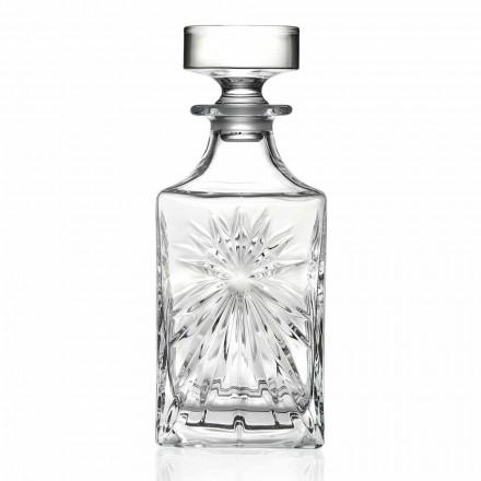 4 Garrafas de Whisky com Design Quadrado da Tampa Eco Cristal - Daniele