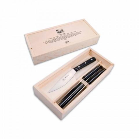 4 facas de mesa Berti Valdichiana exclusivamente para Viadurini - Aldino