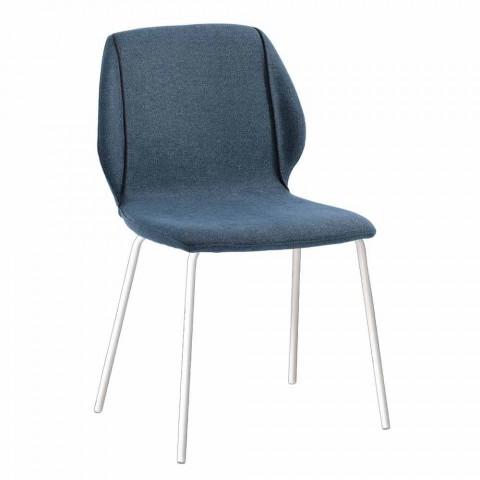 4 cadeiras em tecido de design moderno e elegante com borda - Scarat