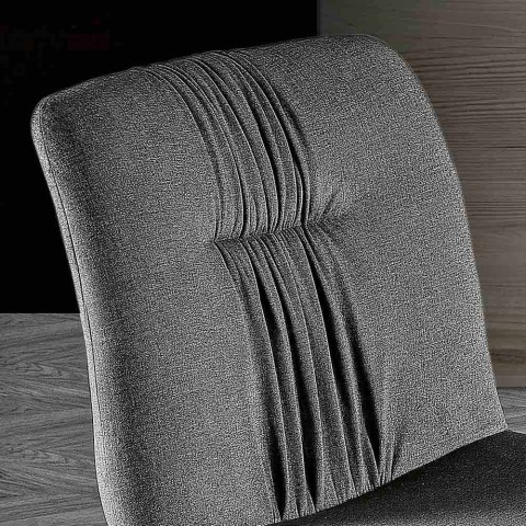 4 Cadeiras Estofadas em Tecido e Pernas de Cinza - Florinda