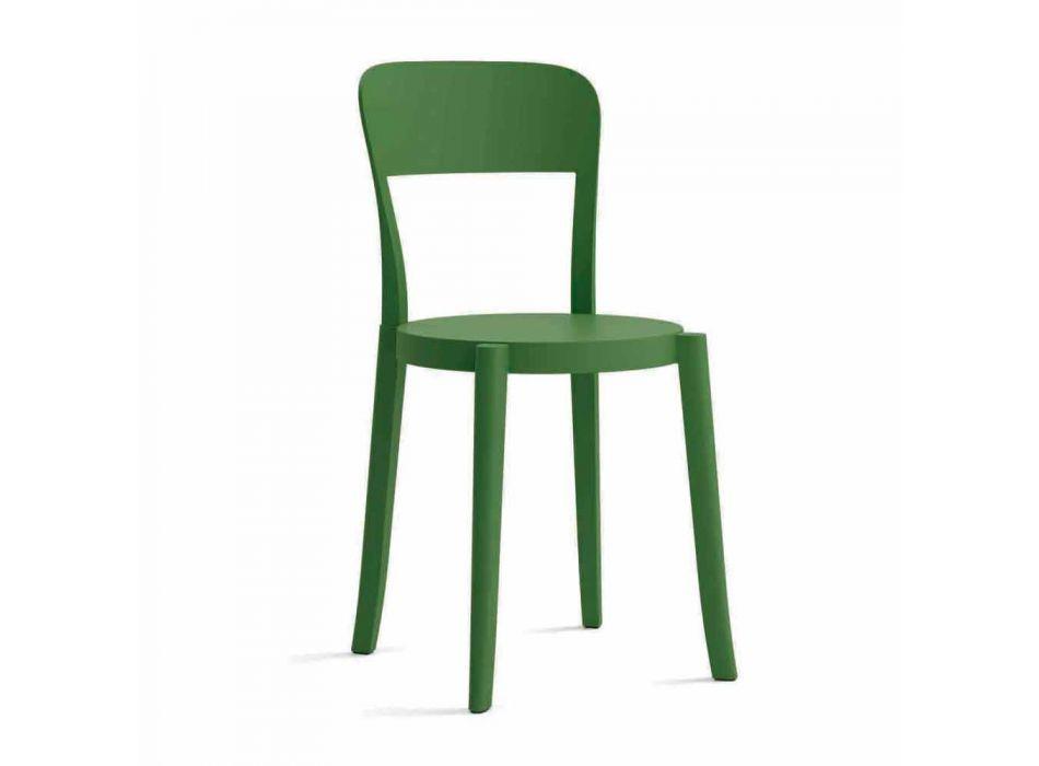 4 Cadeiras empilháveis de exterior de polipropileno fabricadas na Itália Design - Alexus