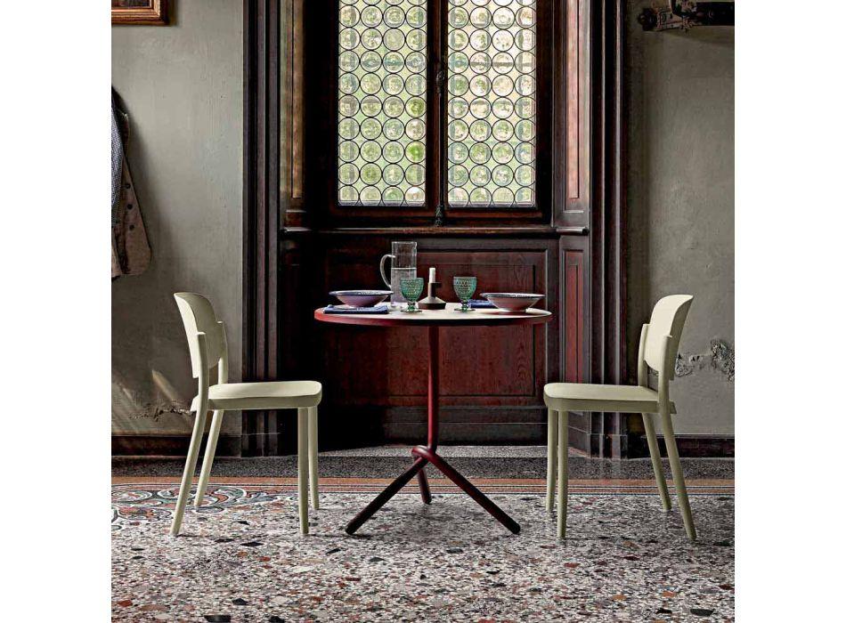 4 Cadeiras exteriores empilháveis modernas em polipropileno Made in Italy - Bernetta