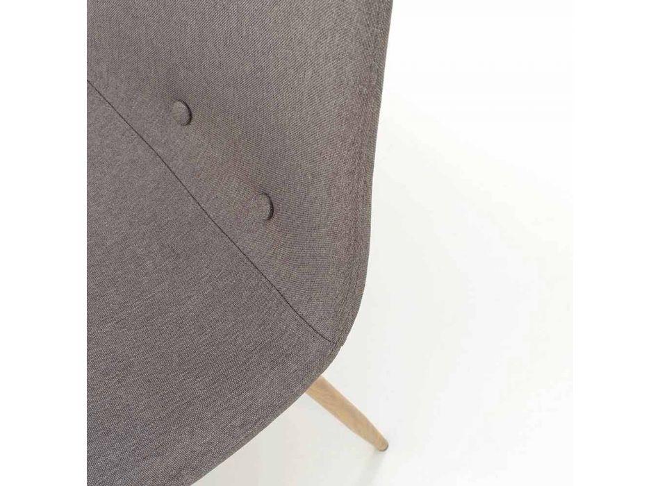 4 Cadeiras de Sala de Jantar com Assento em Tecido e Estrutura Metálica - Pampa