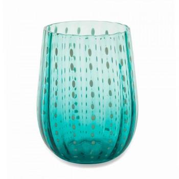 6 copos de vidro coloridos e modernos para um serviço elegante na água - Pérsia