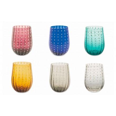 12 copos de vidro coloridos e modernos para um serviço elegante na água - Pérsia
