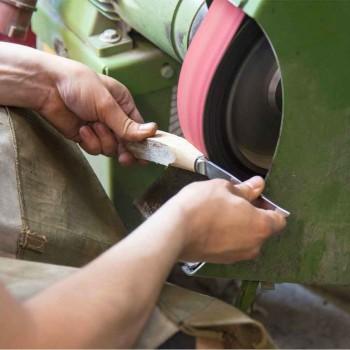 6 facas de bife artesanais em chifre ou madeira feitas na Itália - Zuzana