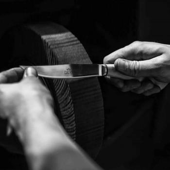 6 facas de bife ergonômicas com lâmina de aço fabricadas na Itália - tubarão
