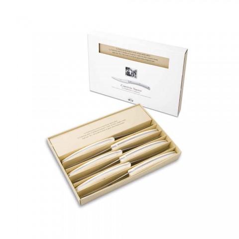 6 facas de mesa Convivio Nuovo Berti exclusivamente para Viadurini - Alonte