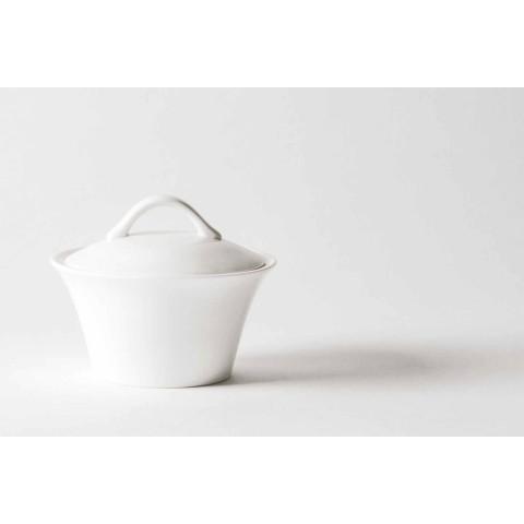 6 xícaras de café de porcelana com cafeteira e açucareiro - Romilda