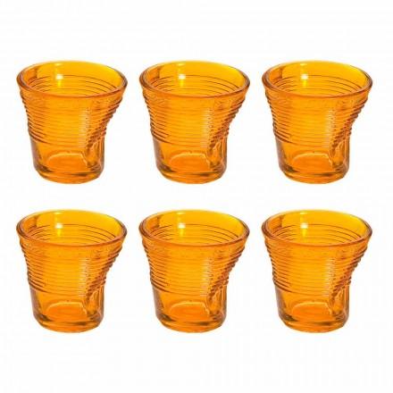 12 xícaras de café amassado Design colorido de vidro - Sarabi