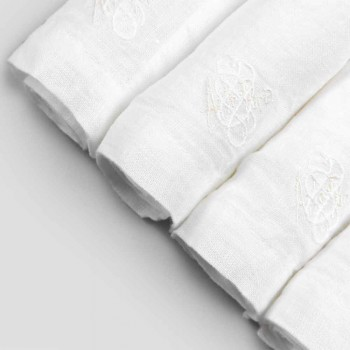 6 guardanapos de linho leve com decoração de caixa de luxo italiana - Virtu
