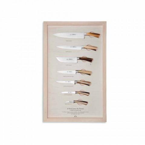 7 facas de parede em aço inoxidável Berti exclusivas para Viadurini - Modigliani