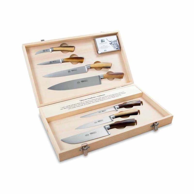 7 facas de aço inoxidável italiano Berti exclusivamente para Viadurini - Goya