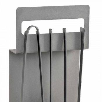 Acessórios para lareira em aço colorido feitos na Itália 4 peças - Rachel