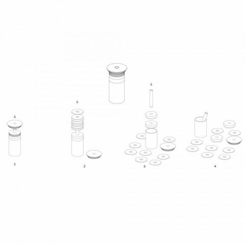 Acessórios para aperitivos - Instrumentos para coquetéis em mármore, madeira e aço - Norman