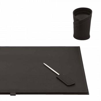 Acessórios de mesa em couro regenerado 4 peças fabricadas na Itália - Aristóteles