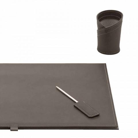 Acessórios de mesa em couro regenerado 5 peças fabricadas na Itália - Aristóteles