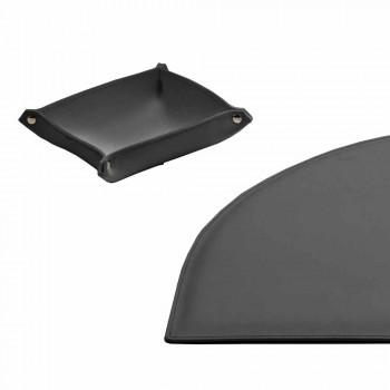 Acessórios de mesa em couro regenerado 4 peças fabricadas na Itália - Medea