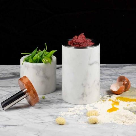 Acessórios que economizam espaço para utensílios de cozinha em mármore, madeira e aço - Astoria