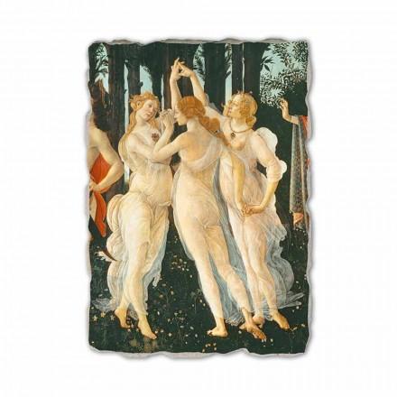 Primavera by Botticelli, afresco pintado à mão (detalhe)