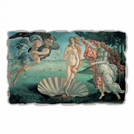 O nascimento de Vênus por Botticelli, afresco pintado à mão