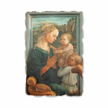Madonna com criança por Filippo Lippi, afresco pintado à mão