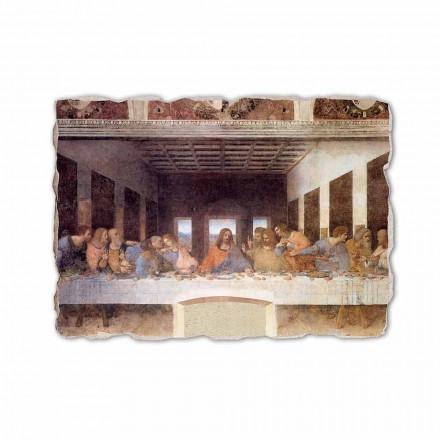 A Última Ceia de Leonardo da Vinci, afresco pintado à mão