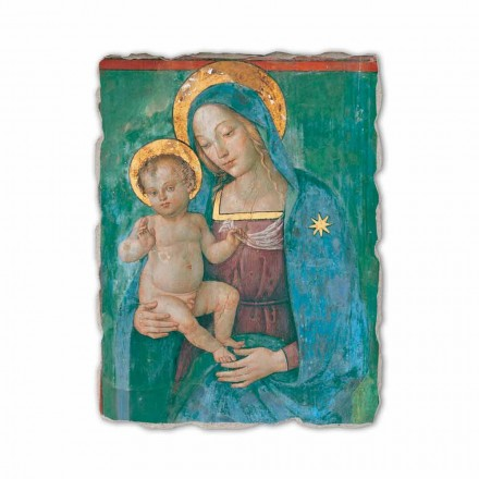 Madonna with Child por Pinturicchio, afresco pintado à mão