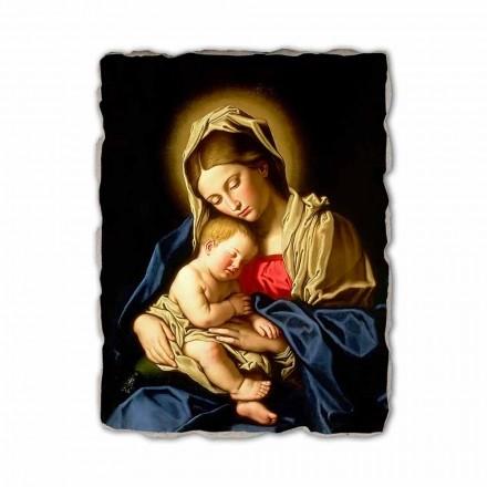 Madonna and Child by Sassoferrato, afresco pintado à mão