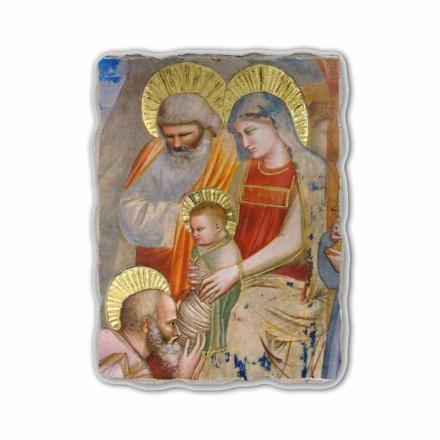 A Adoração dos Magos por Giotto, afresco pintado à mão