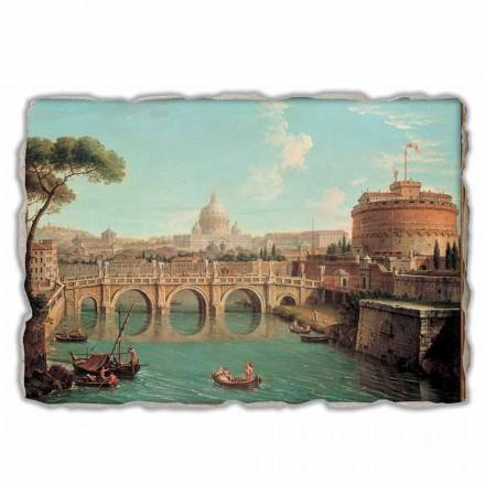 Roma, vista de Antonio Joli, afresco pintado à mão